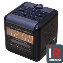 Covert Hidden IR Alarm Clock