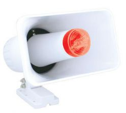 DCIACCESS 60 Watt PA Horn With Built-In Strobe Flasher