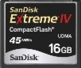 Sandisk 16GB Extreme IV Compact Flash Card