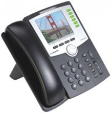 6-Line IP Telephone with 2 Port Ethernet Switch, PoE, and Color Display